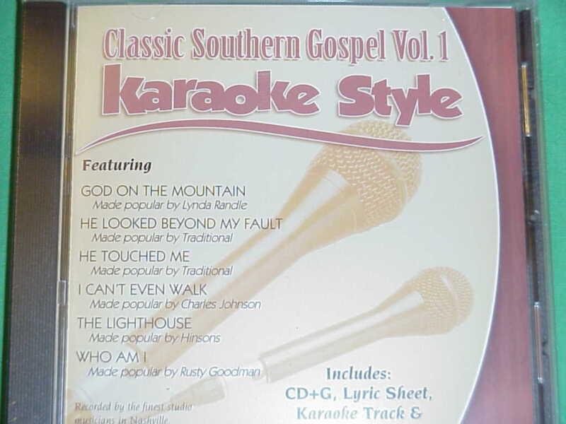 Classic Southern Gospel  Volume #1  Christian  Daywind  Karaoke Style  CD+G  NEW