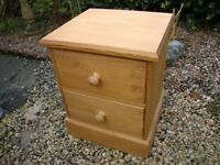 Solid Timber,Two Drawer,Bedside Unit.(With Dovetail Jointed Drawers).