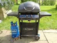 Outback Gas barbeque with gas cylinder for sale