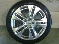 ALLOYS X 4 OF 17 INCH GENUINE MERCEDES C/CLASS OR E/CLASS FULLY POWDERCOATED INA SHADOW CHROME NICE