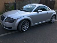 2002 AUDI TT 1.8 T QUATTRO (180BHP) 6 SPEED. PETROL (LOW MILEAGE- 88K) MOT (DEC.18) CAMBELT CHANGED