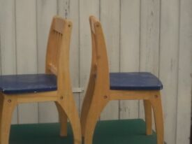 pair of sturdy nursery chairs good modern vintage only £6 buys the pair