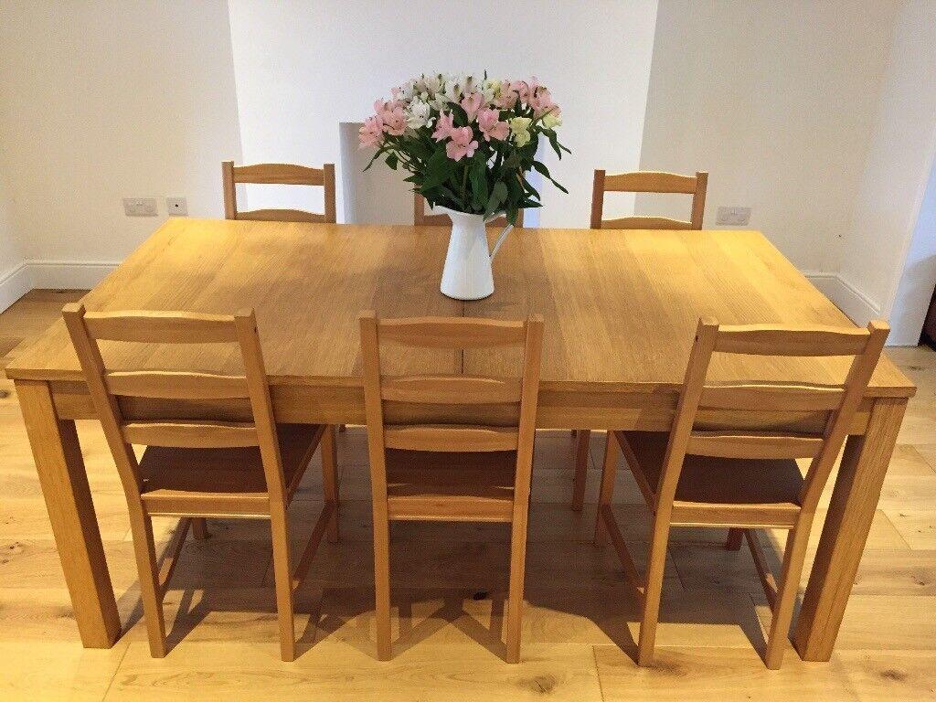 Ikea Bjursta Dining Table And Six Jokkmokk Chairs