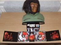 Planet of the Apes - 14 DVD Set & Ape Bust