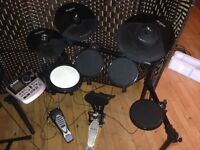 Alesis DM 8 USB Electronic Drum Kit- Excellent condition with Mapex kick pedal.