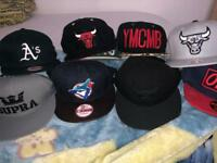Collection of 9 SnapBacks for less then 6 pound each
