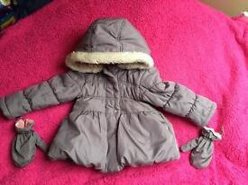 Grey 18-24 months (1.5-2) baby coat