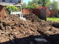 Free soil good location for moving next to drive