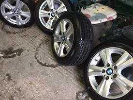 BMW Alloy Wheels 16 inch with new tyres