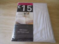 Brand new in packet single quilt cover set - white and lilac