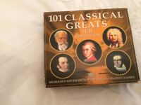 101 classical tracks on 5 cd pack and 3 cd pack of over 42 Mozart tracks