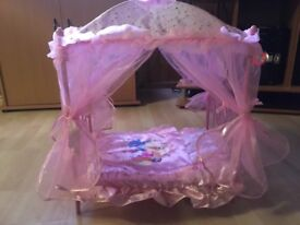 Princess metal canopy bed brand new