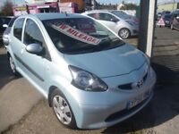 Toyota AYGO VVTI+,5 door hatchback,1 owner,2 keys,showroom condition,low mileage 36,000,£20 road tax