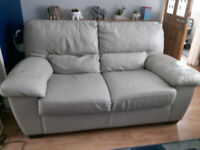 2 seater Leather sofa and 1 chair for sale