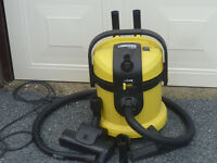 KARCHER HEAVY DUTY WET AND DRY VACUUM CLEANER WITH POWER TOOL AUTO START