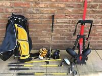 Kids golf set & golf trolley