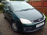 Spares or Repair Ford Cmax 1.8 Ghia, towhitch, New Elec handbrake, new Clutch, Alloy Wheels
