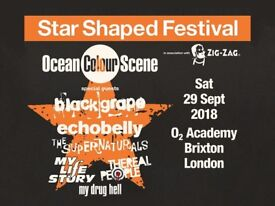 2 tickets to star shaped festival on Sat 29th Sept 18 Brixton Academy, featuring ocean colour scene