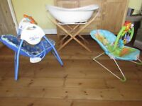 Baby Bouncer Swing and Bath package