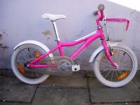 Kids Bike by Agane, Pink, Lite Ali Frame, 16 inch for Kids 5+ years, JUST SERVICED / CHEAP PRICE!!!