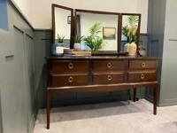 Stag Dressing Table / Chest of Drawers