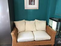 Rattan Sofa from Next, 3 Seater
