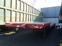 1973 general 40 Foot Tanden Axle Step Deck Flatdeck Trailer