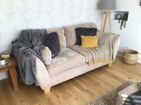 Barker and Stone House Sofa x 2 with footstool