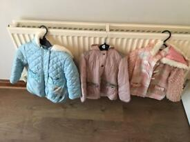 Girls 2-3 years coats.