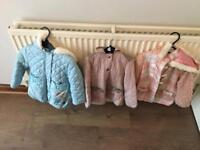 Girls 2-3 years coats.