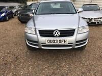 VOLKSWAGEN TOUAREG 3.2 V6 5d AUTO 220 BHP VERY LOW MILEAGE CALL NOW (silver) 2003