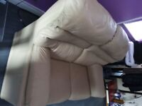 Pure leather 2 seater sofa for sale, very good condition £120 only.