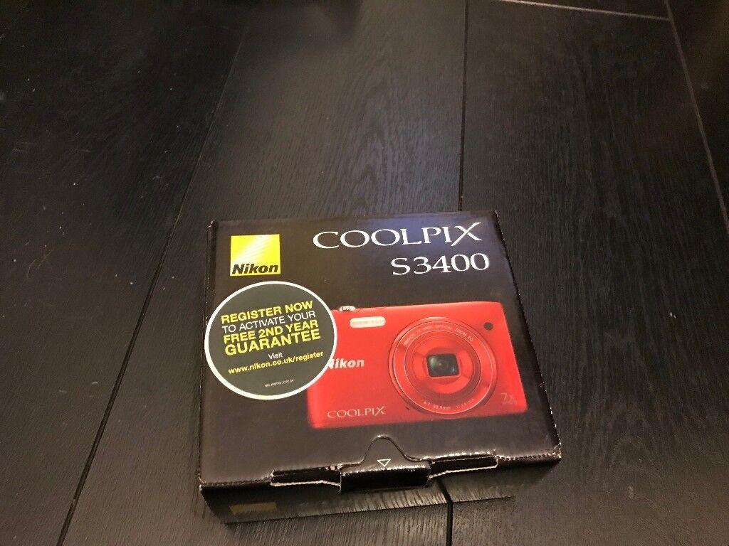 NIKIN COOLPIX S3400 DIGITAL CAMERA BRAND NEW BOXED