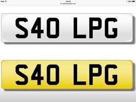 S40 LPG - Personalised number plate