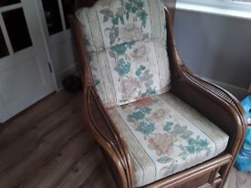 Very good conditon 2 seater and 2 chairs cane furniture