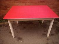 Vintage retro red formica kitchen dining table