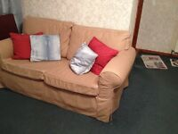IKEA 2 Seater Beige Sofa for Sale. Excellent Condition. Washable Covers.