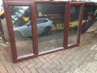 UPVC rosewood double glazed window