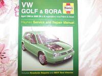 USED HAYNES WORKSHOP MANUAL VW GOLF &BORA 1998-2000 PETROL&DIESEL