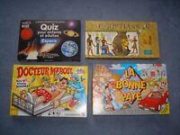 ***Fench Board Games – Dr Maboul – Egyptians – Espace – La Bonne Paye***