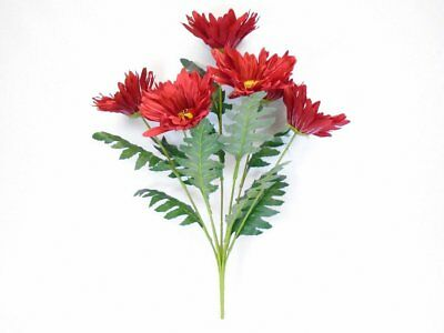(Jumbo Gerbera Daisy 7 Artificial Silk Flowers 21