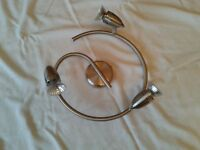 Chrome Ceiling Light Fitting with 3No. Shaped Bulb Holders