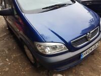 Vauxhall ZAFIRA, 2004 year, Blue colour, for sale