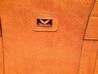 Tan colour leather briefcase