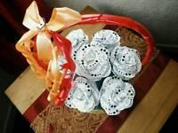 HANDMADE Diamanté Paper Roses