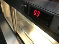 CATERING COMMERCIAL COUNTER TOP COLD DISPLAY FRIDGE CAFE SHOP CUISINE TAKE AWAY FAST FOOD CATERING