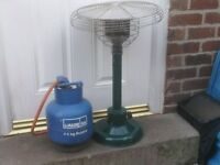 PATIO HEATER SMALL WITH A GAS BOTTLE £25