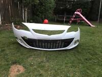 Vauxhall Astra J GTC front bumper white