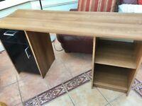 Oak Effect large computer table - excellent condition