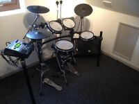 ROLAND TD-12 ELECTRONIC DRUM KIT WITH UPGRADED KD-120 BASS DRUM, VERY GOOD CONDITION